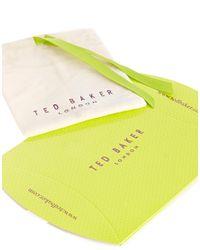 Ted Baker | White Enamel Logo Button Stud Earrings | Lyst