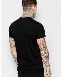 DIESEL - T-shirt Cl-t-melee Crewneck Winged 78 Logo Print In Black for Men - Lyst