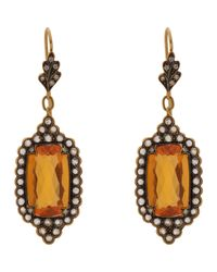 Cathy Waterman - Metallic Scalloped-edge Drop Earrings - Lyst