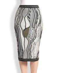 Rag & Bone - Gray Coogi Knit Pencil Skirt - Lyst