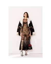 Alessandra Rich Black Lace Dress