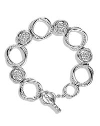 David Yurman | Metallic Infinity Link Bracelet With Diamonds | Lyst