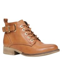 ALDO - Brown Sybil Lace Up Ankle Boots - Lyst