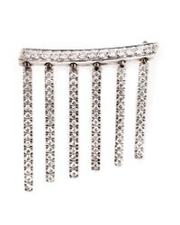 Ileana Makri | Metallic Dropped Bar Diamond Earring | Lyst