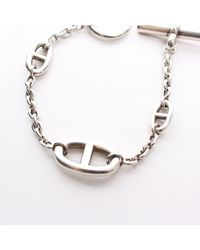 Hermès - Metallic Pre-owned: Chaine D'ancre Toggle Bracelet - Lyst