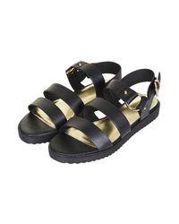 TOPSHOP - Black Humidity Sandals - Lyst