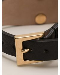 Alexander McQueen - Metallic Cuff Bracelet - Lyst