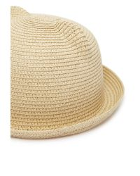 Forever 21 - Natural Ears Straw Hat - Lyst