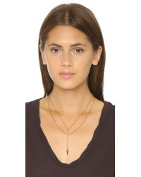 Vanessa Mooney | Metallic Long Nights Double Chain Dagger Necklace | Lyst