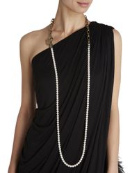 Lanvin - Metallic Faux Pearl Necklace - Lyst