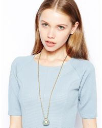 Kenneth Jay Lane | Metallic Pendant Ball Necklace | Lyst