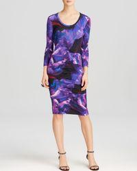 Nicole Miller Artelier | Blue Dress - Print Jersey | Lyst