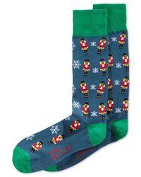 Alfani - Green Spectrum Holiday Print Socks for Men - Lyst