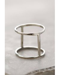 Shashi | Metallic Barrel Ring | Lyst