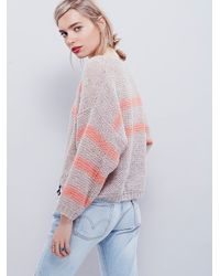 Free People | Brown Womens Softly Stripe Crew | Lyst