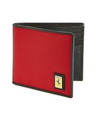 Ferrari | Red 'utility' Wallet for Men | Lyst