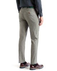 Ted Baker | Gray Veerity Diamond Jacquard Suit Trousers for Men | Lyst