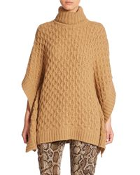 MICHAEL Michael Kors | Natural Textured Poncho | Lyst