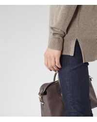 Reiss | Brown Rembi Cashmere-blend Jumper | Lyst