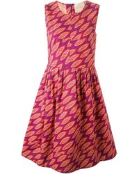 Erika Cavallini Semi Couture | Multicolor Sleeveless Printed Dress | Lyst