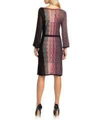 Trina Turk | Multicolor Zigzag Knit Dress | Lyst