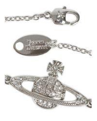 Vivienne Westwood | Metallic Swarovski Silver Crystal Orb Bracelet | Lyst