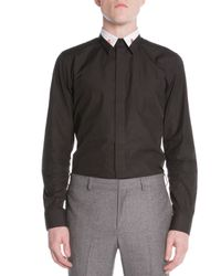 Givenchy - White Colorblock-collar Shirt for Men - Lyst