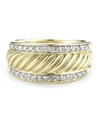 David Yurman | Metallic Pre-owned 18ky with Diamonds Ring | Lyst