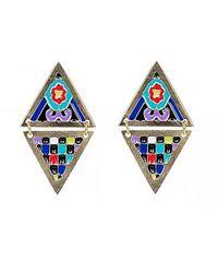 Noir Jewelry | Metallic Ofelia Enamel Earrings | Lyst