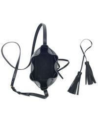 Polo Ralph Lauren - Black Mini Leather Bucket Bag - Lyst