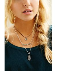 Urban Outfitters | Metallic Yin Yang Hamsa Layering Necklace | Lyst