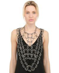 Lucia Odescalchi Metallic Hag Chain Necklace