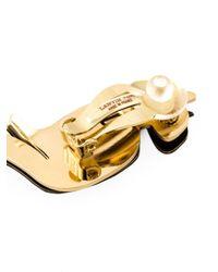 Lanvin | Metallic Serated Clip-on Earrings | Lyst