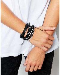 ASOS | Bracelet Pack In Black And White for Men | Lyst