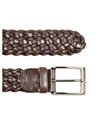 FORZIERI - Mens Dark Brown Woven Leather Belt for Men - Lyst