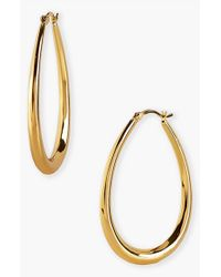 Argento Vivo - Metallic Small Teardrop Hoop Earrings - Lyst