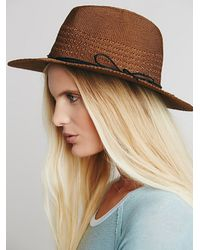 Free People - Brown Womens Marled Rancher H - Lyst