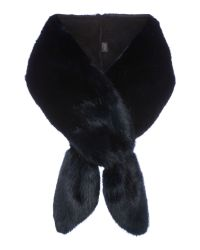 Helen Moore | Gray Vixen Long Faux Fur Scarf | Lyst