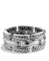 David Yurman | Metallic Cable Classics Three-row Bracelet | Lyst