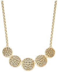 Style & Co. | Metallic Glitter Openwork Round Frontal Necklace | Lyst