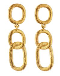 Kenneth Jay Lane - Metallic Link-drop Earrings - Lyst