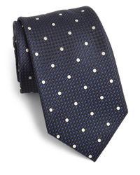 Saks Fifth Avenue | Blue Dot Print Silk Tie for Men | Lyst