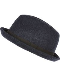 River Island - Blue Navy Trilby Hat for Men - Lyst