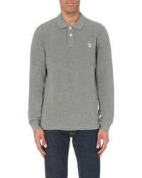 Paul Smith | Gray Zebra-motif Regular-fit Cotton Polo Shirt for Men | Lyst