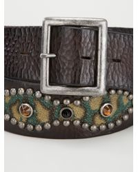 HTC Hollywood Trading Company - Brown Embellished Belt for Men - Lyst