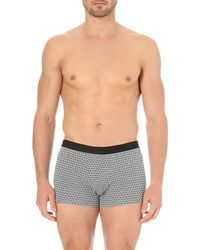 Derek Rose | Black Diamond-print Stretch-cotton Trunks - For Men for Men | Lyst