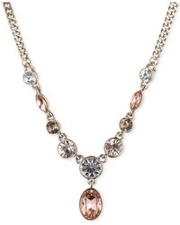 Givenchy | Metallic Gold-Tone Pink Stone Y-Necklace | Lyst