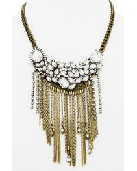 BaubleBar | Metallic 'dressage' Collar Necklace - Antique Gold | Lyst