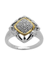 Lord & Taylor | Metallic Sterling Silver And 14kt. Yellow Gold Diamond Ring | Lyst