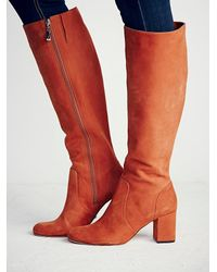 Free People | Orange Karina Tall Boot | Lyst